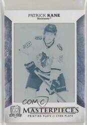 2017-18 Upper Deck The Cup Masterpieces Printing Plate Cyan 1/1 Patrick Kane