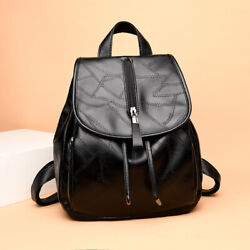 Ladies Fight Leather Backpack Leisure Travel Wild Soft Leather Personalized Bag $32.80
