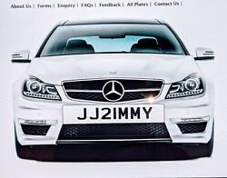 Jimmy James Jim Personal Private Number Plate All Fees Jj21mmy