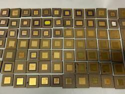 4 Lbs 12 Oz With Gold Square Inside Ceramic Cpu For Gold Scrap Recovery