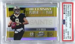2017 Contenders Optic Offensive Player Of The Year Gold /10 Drew Brees Psa 10