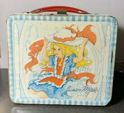 Vintage 1973 Blue Gingham Pattern Junior Miss Lunchbox No Thermos