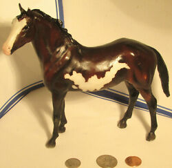 Dark Brown white spots Breyer Molding Company Horse With Black Mane And Tail