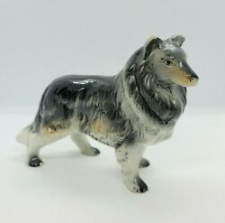Beautiful Vintage Collie Dog Porcelain Figurine Made In Japan Hand Painted