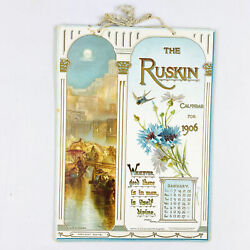 Rare 1906 Tuck The Ruskin Calendar Paintings Of Rome, Venice And Flowers