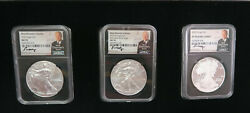 American Silver Eagles Ms/pr70 S Mint 3 Mds Coin Set Boxed Moy 2020
