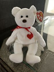 Rare Valentino The Bear Ty Beanie Baby Retired With Tag Clean