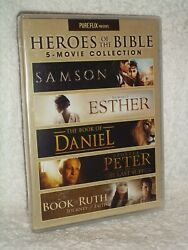 Heroes Of The Bible 5-movie Collection Dvd, 2020 3-disc New Christian Religion