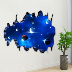 3D Galaxy Wall Sticker Space Planet Mural Wall Decal Removable Room Art Decor US