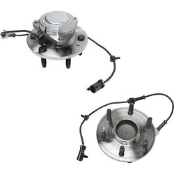 Set Of 2 New Complete Front Wheel Hub And Bearing Assembly - Chevy Gmc 2wd 6 Lug