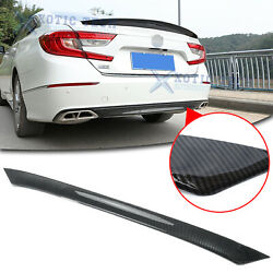 Carbon Fiber Rear Bumper Moulding Cover Trim Abs For Honda Accord 2018 2019 2020
