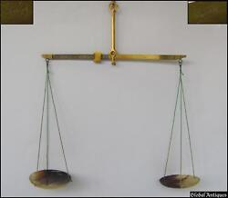 19c. Antique Apothecary 10g. Scales W/horn Cups - Bosch
