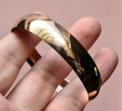 14 Ct Solid Real Gold High Shine Bangle - Bespoke And One Of A Kind