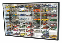 56 Hot Wheels 164 Scale Diecast Display Case Stand, Mirrored Back, Two Door