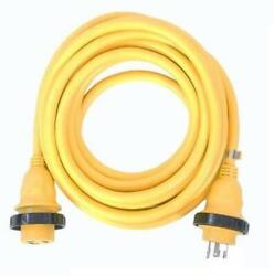 30a 125v Marine Shore Power Boat Cord Cable 50and039 Yellow - 21315