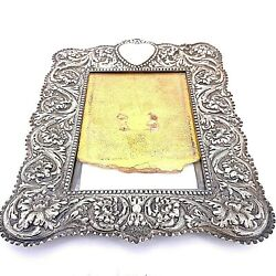 Antique Victorian And Co. Sterling Silver Picture Frame