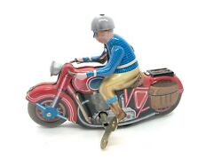 Antique Style Tin Toys Motorcyclist Wind Up Collectable