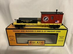 ✅mth Railking Us Army Crane Tender Car 30-79389 United States Military Caboose