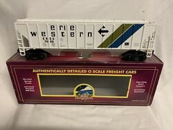 ✅mth Premier Erie Western Ps-2cd High Sided Covered Hopper 20-97139 O Scale