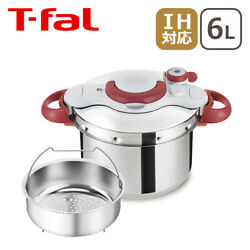 T-fal Pressure Cooker 6l Ih Enable 4-6 People One-touch Open P4620769 148a