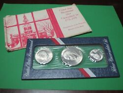 3 Coin Silver Uncirculated Bicentennial Set 1776 - 1976 With Mint Packaging