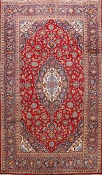 Semi Antique Hand-knotted Traditional Floral Area Rug Wool Oriental Carpet 7x10