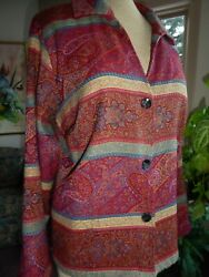 EXCEPTIONAL *COLDWATER CREEK* TAPESTRY JACKET SZ.L