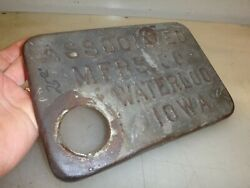 Embossed Name Associated Gas Tank Top Hit And Miss Old Gas Engine