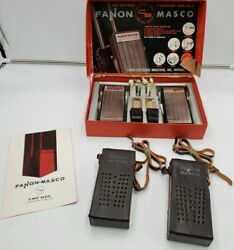 Vintage Fanon Masco Citizens Band Two Way Radios Model Fcb-99 Complete In Box
