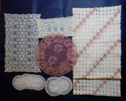 Antique/vintage Doilies, Table Runners - 11 Total