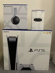 Playstation Ps5 Disc Console Pulse 3d Headset Hd Camera Bundle Ready To Ship🔥