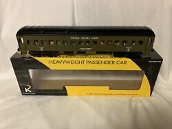 """✅k-line By Lionel Us Army Troop Carrier 15"""" Heavyweight Passenger Car O Gauge"""