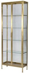 84 T Ausonia Cabinet Double Doors Brass Finished Iron Cabinetry With Glass
