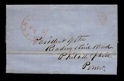 1848 Stampless To President Of Reading Rr / Rr Contents - L17953