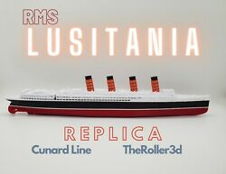 Rms Lusitania Model 1 Foot In Length, Highly Detailed Replica