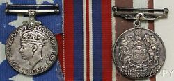 Kappyscoins G1719 1939-1945 Canada Sterling Wwii Voluntary Service Medals Ww2
