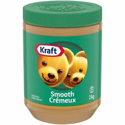 Kraft Peanut Butter Smooth 2 Kg/4.4 Lbs. 6 Pack {imported From Canada}