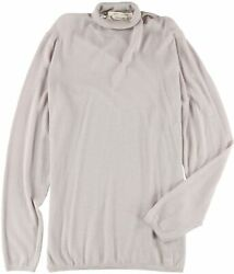 Marc Jacobs Mens Ribbed Cashmere Pullover Sweater, Grey, Large