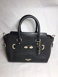 Coach Swagger 27 Black Pebble Leather Satchel Purse $85.00