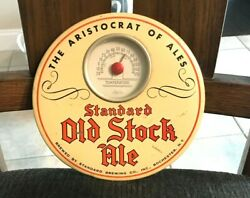Standard Old Stock Ale 9 Button Beer Sign Tin Over Cardboard Toc Rochester Ny