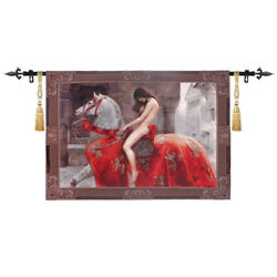 Lady Godiva By John Collier Woven Tapestry Wall Medieval Art Hanging Home Decor
