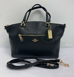Coach 79997 Small Prairie Pebbled Leather Satchel Crossbody Black $89.99