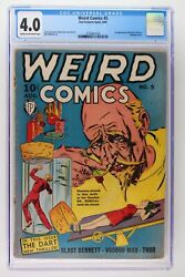 Weird Comics 5 - Fox Features Syndicate 1940 Cgc 4.0 1st App Of The Dark And Ace