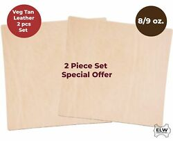 Veg Tan Full Grain Cow Tooling Leather 8-9oz3.2mm Pre-cut 2pcs Special Price