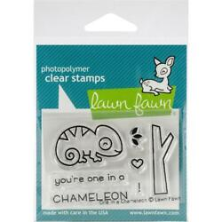 Scrapbooking Crafts LF Clear Stamp Set You#x27;re One In A Chameleon Heart Branch
