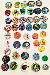 Lot Of 90 Assorted Pogs-pokemon,felix The Cat, Pink Panther And More Free Shipping