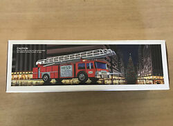 1986 Hess Toy Fire Truck Bank Collectible - Mint In Box