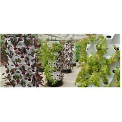 Aeroponic / Hydroponic 80-pot Vertical Tower Growing Systems W Water Tank And Pump