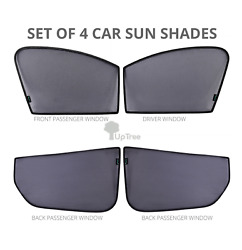 4pack Custom-fit Car Window Uv Sun Shades For Ford Ranger 2018 To 2020 Models