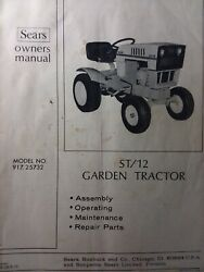 Sears Suburban St/12 Lawn Garden Tractor Owner, Parts And Engine Manual 917.25732
